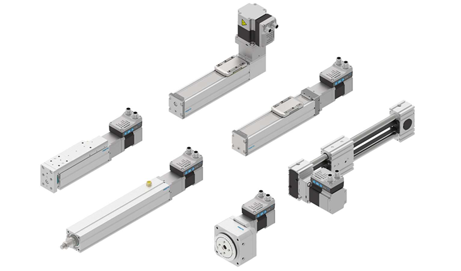 "Festo's Simplified Motion Series enables all motion sequences between two end positions to be mapped. Commissioning is based on the ""plug & work"" principle."