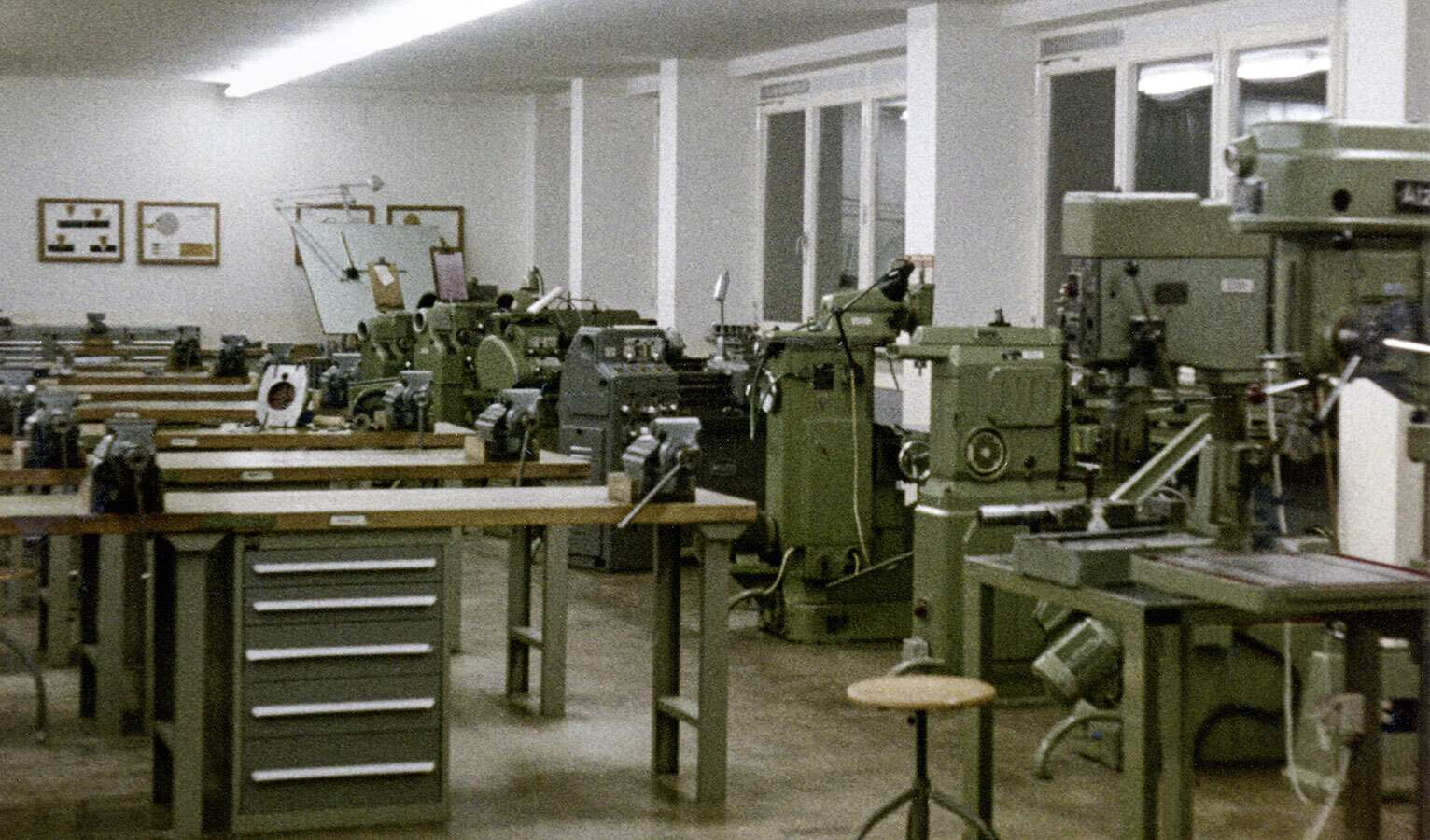 The training workshop in Rohrbach was inaugurated in 1969; there were eight trainees at that time, and today there are 121.