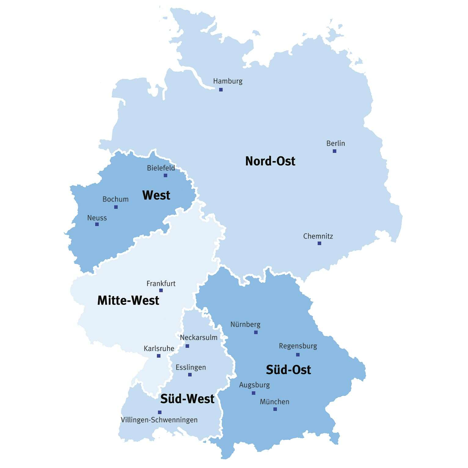 Sales offices and technical consulting in Germany