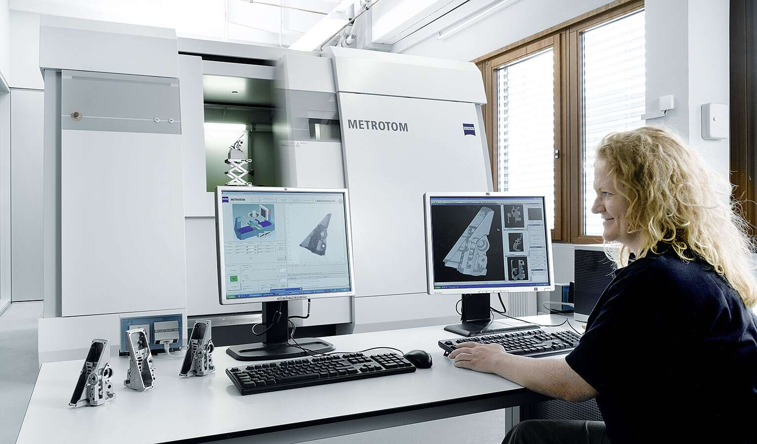 Computed tomography being developed at Festo in action