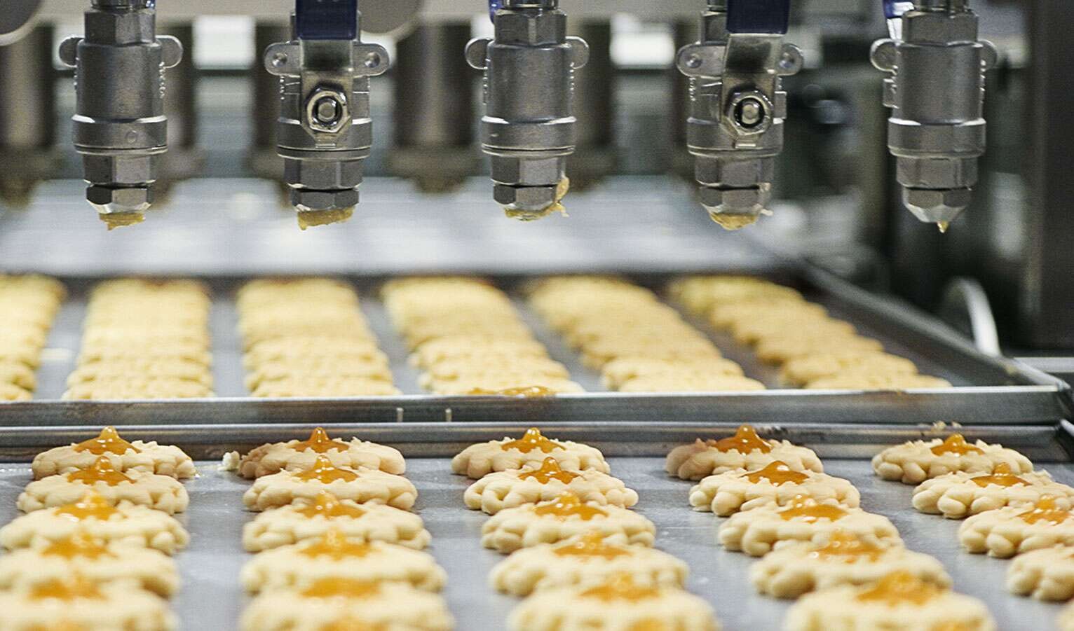 Production de pâtisseries de Noël