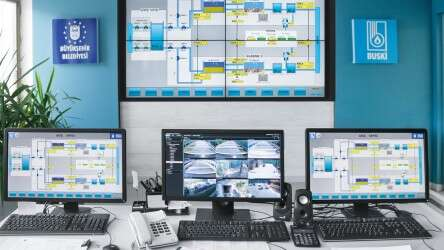 A SCADA system with designed-in redundancy, monitors the complete process and provides data for preventative maintenance