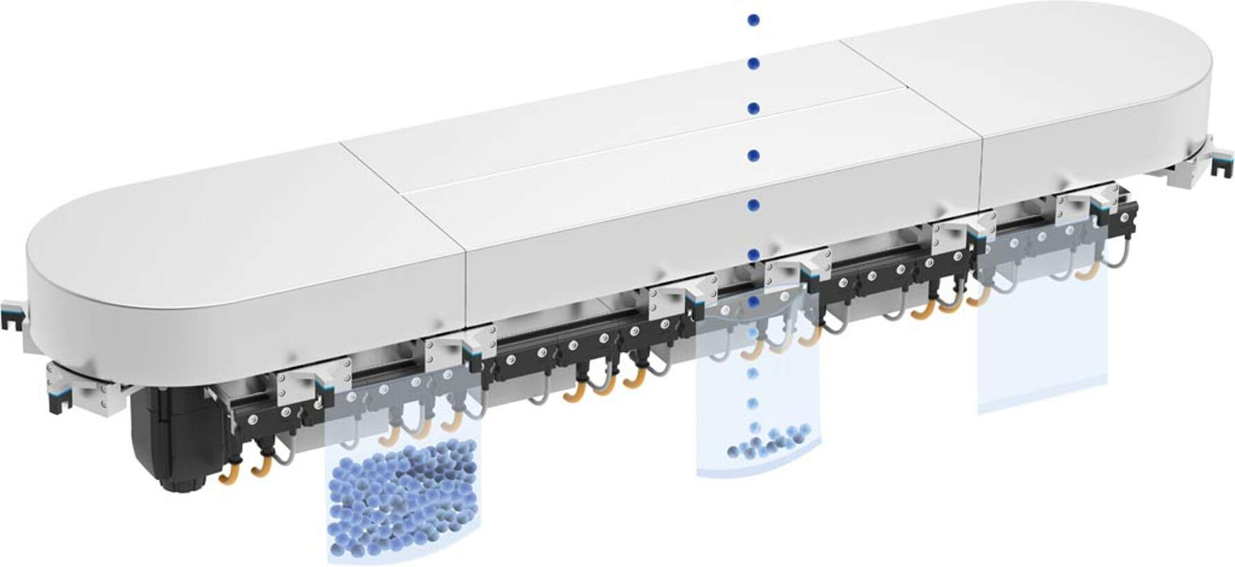 Transport system MCS®: fast filling and capping
