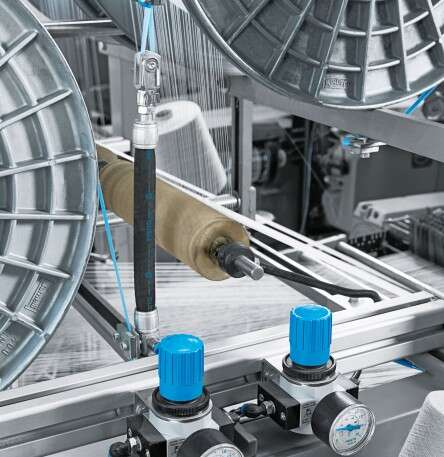 Textile industry: fluidic muscle
