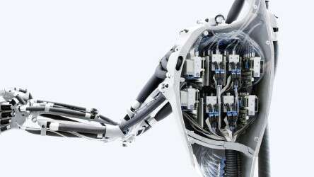 Festo Airic's_arm: eight valve manifolds with piezo technology for precise control of the pneumatic muscles