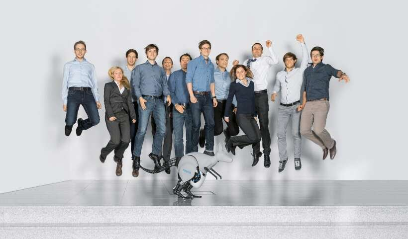 The BionicKangaroo team: engineers, designers, biologists and software specialists from Festo