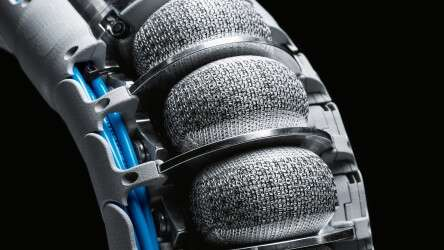 Innovative fiber technology: the special 3D textile knit around the flexible bellows structures