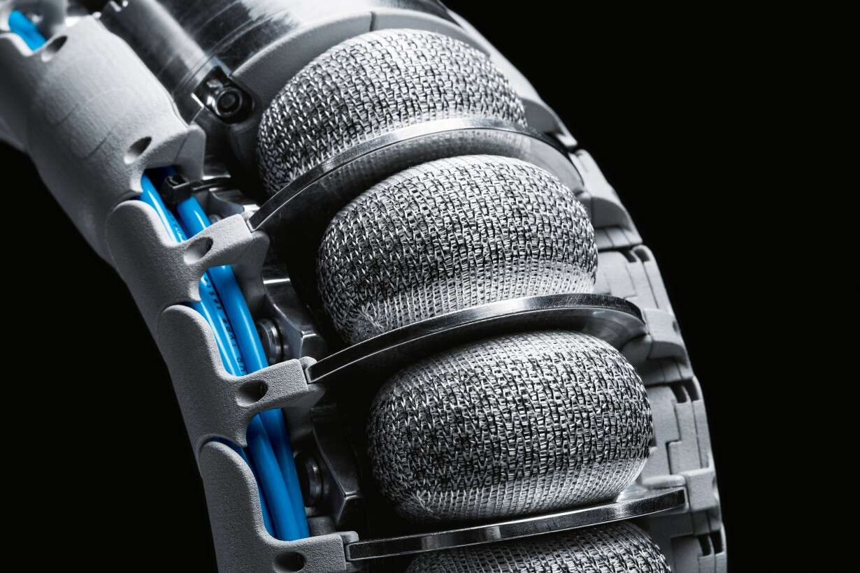 A new fibre technology: the special 3D textile knitted fabric surrounding the flexible bellows structures