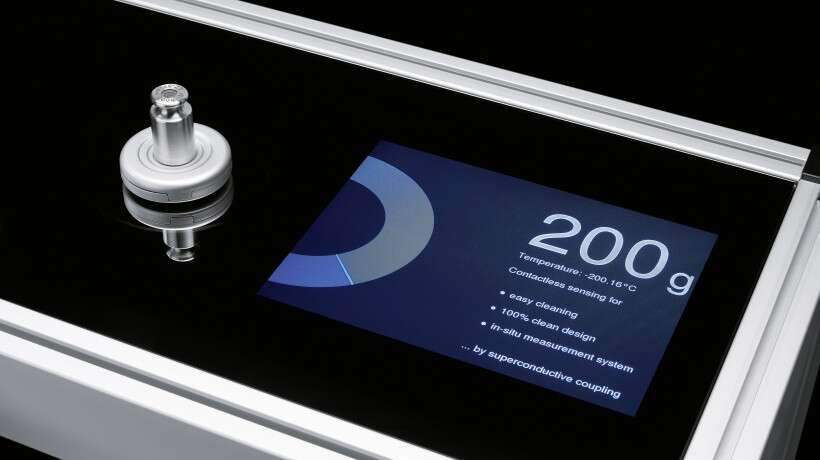 Festo SupraSensor: contactless weighing with a levitating weighing plate