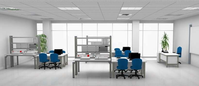 Learning environment for electrical engineering, electronics and drive technology