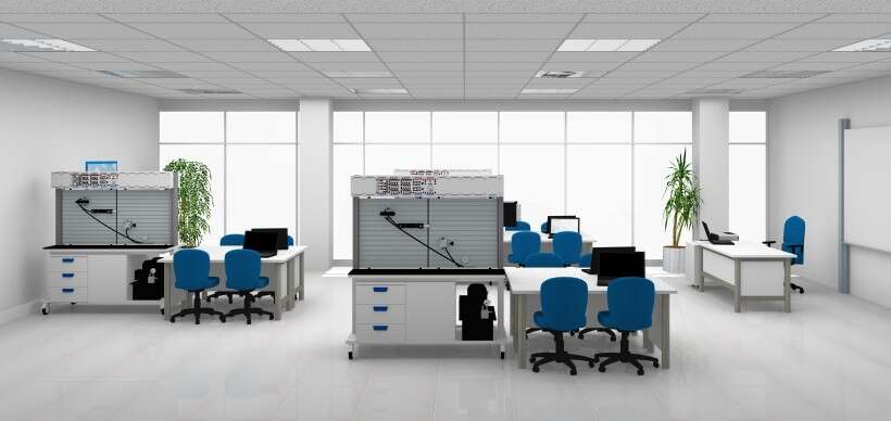 Learning environment for pneumatics and hydraulics