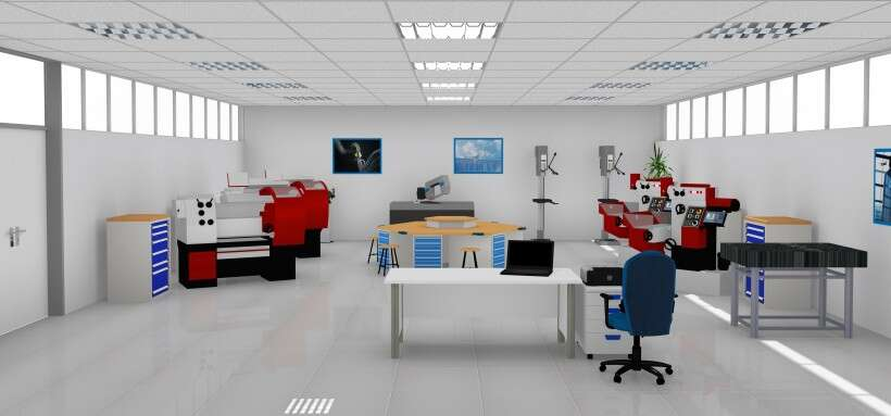 Learning environment for metalworking
