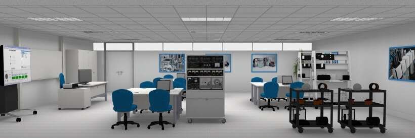 Learning environment for industrial drive technology