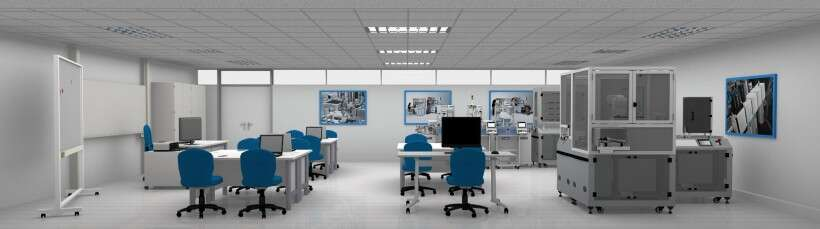 Learning environment for basic principles of Industry 4.0