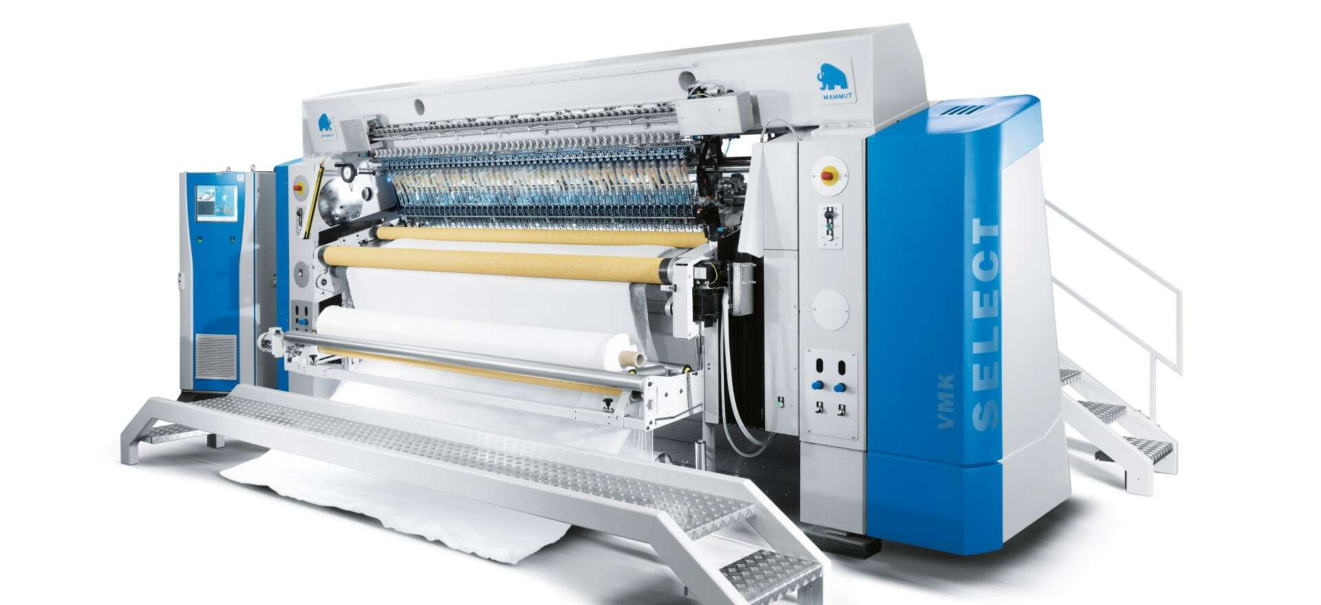VMK Select: the latest multi-needle quilting machine is setting standards throughout the industry thanks to customised cylinder/valve combinations from Festo.