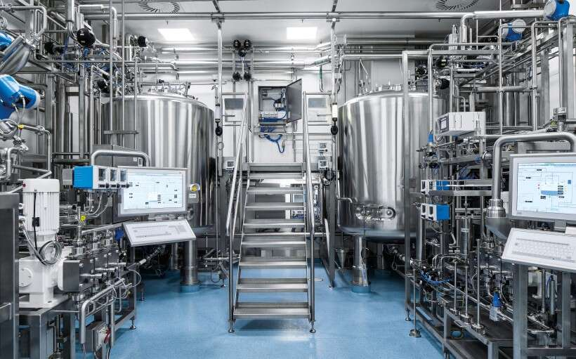 Festo control cabinets in the large-scale plant for plasma fractionation
