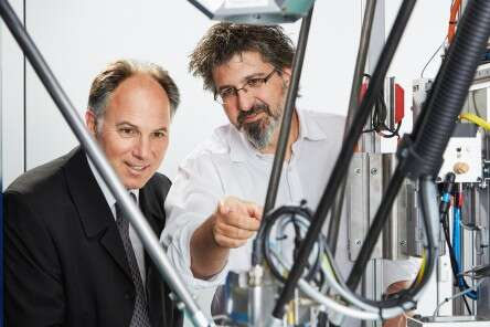 Rolf Wirz, Managing Director of Amax and Daniel Minger, Sales Engineer at Festo Switzerland.
