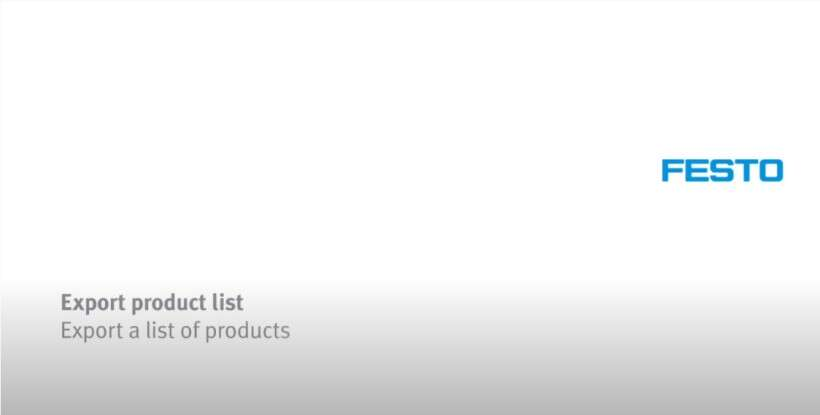 How to export a list of products