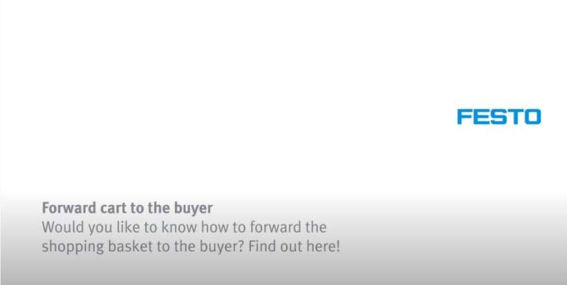 How to forward the shopping basket to a buyer