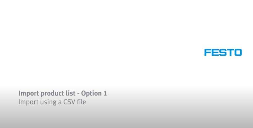 How to import a product list via csv file