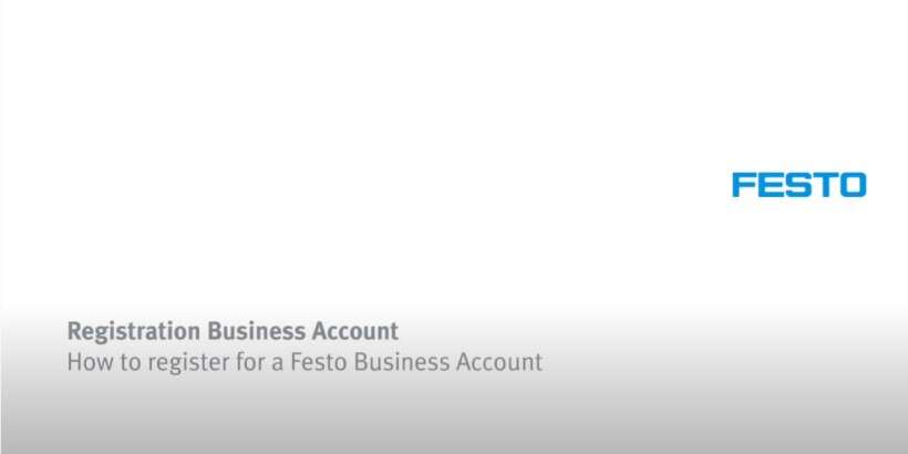 How to register for a Festo Business Account