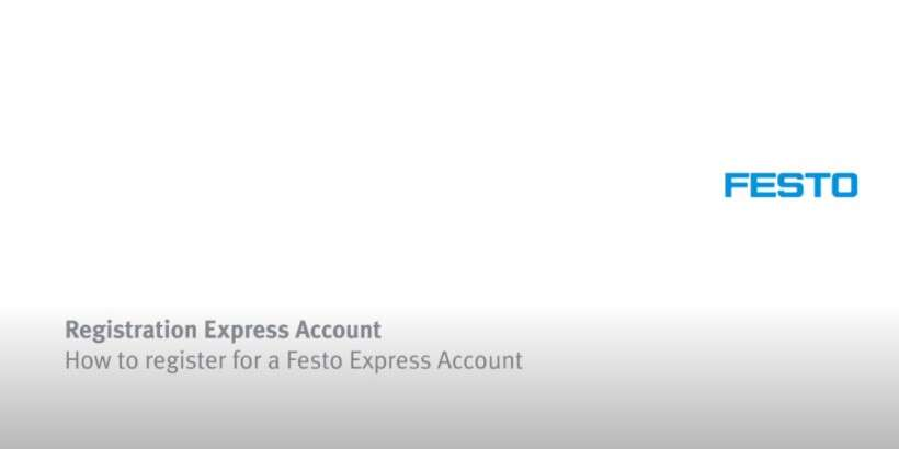 How to register for a Festo Express Account