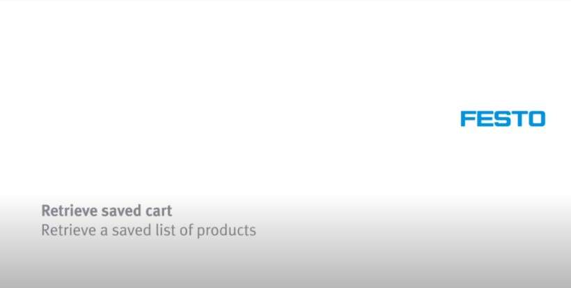 How to retrieve a saved list of products