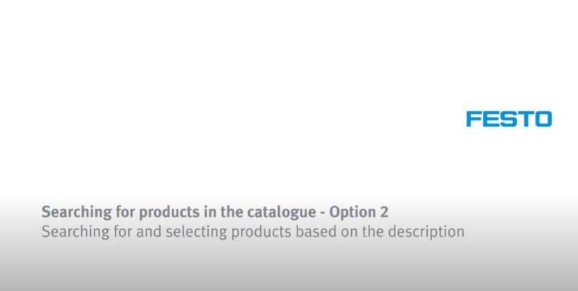 How to search for and select product based on the description