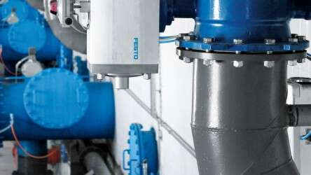 A total of 56 pneumatically operated quarter turn actuators control the inflow and outflow at the 28 sand filters