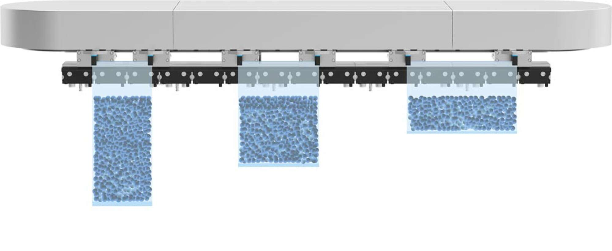 Transport system MCS®: changing filling quantities or formats