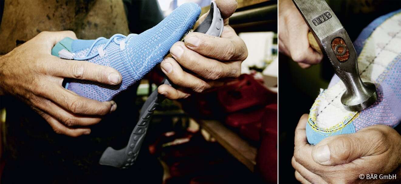 Traditional craftsmanship: producing a shoe using 3D knitting