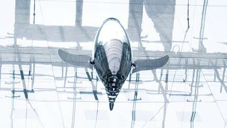 Bionic flying robot: a Festo AirPenguin on a reconnaissance flight