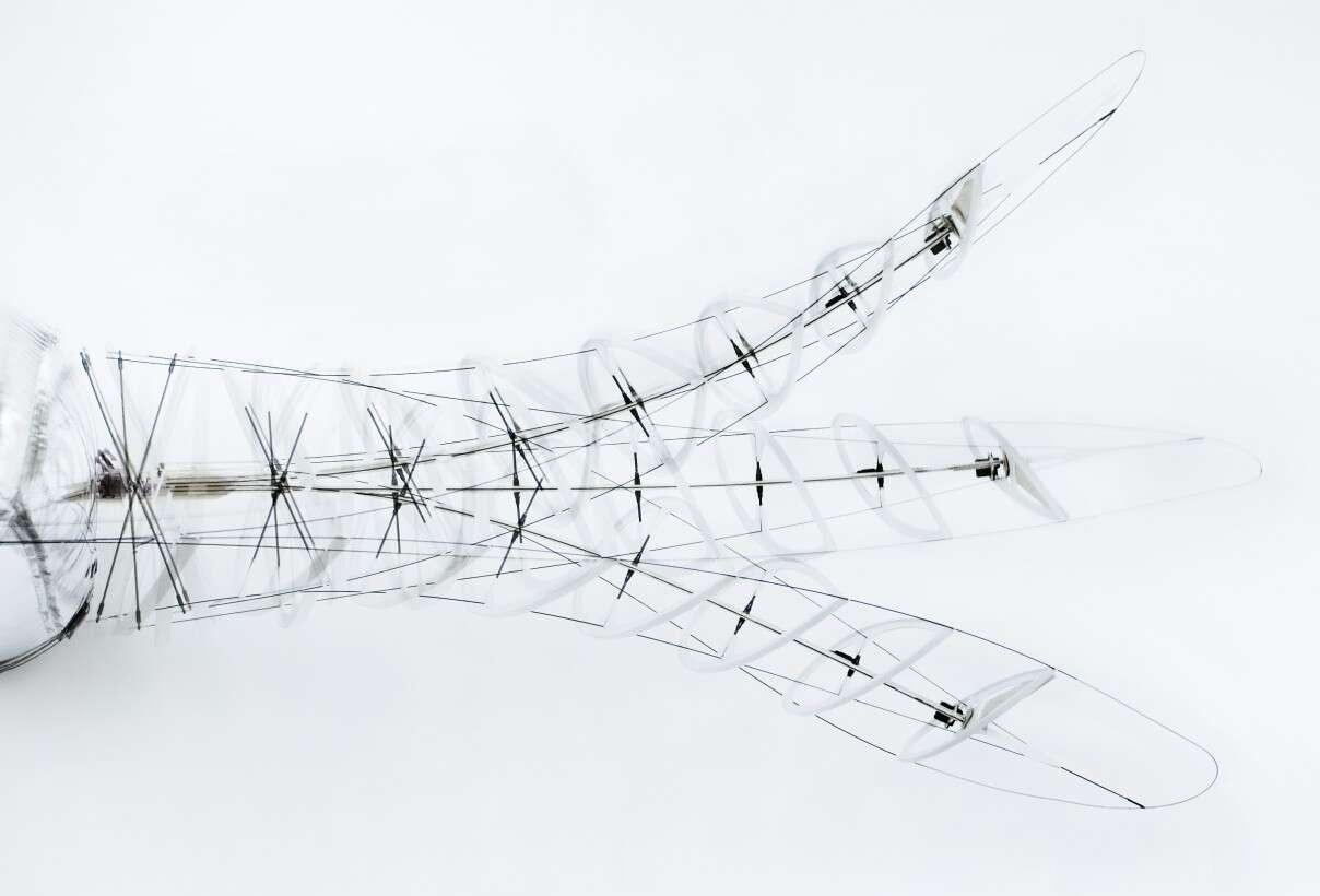 Festo Air_ray with bionic drive: the beating wing with Fin Ray Effect®
