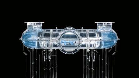 Festo BionicFinWave: autonomous navigation through a pipe system filled with water