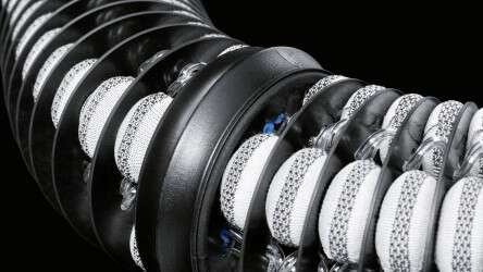 BionicMotionRobot: a 3D knitted fabric surrounds the air chambers.