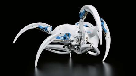 Festo BionicWheelBot: safe locomotion, even over rough terrain, in alternating tripedal motion