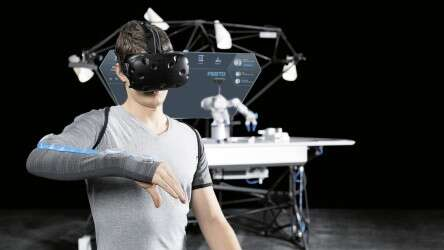 Festo BionicWorkplace: work from a safe distance thanks to remote manipulation via virtual reality glasses