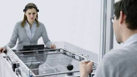 Festo CogniGame: control by the power of thought via brain-computer interface