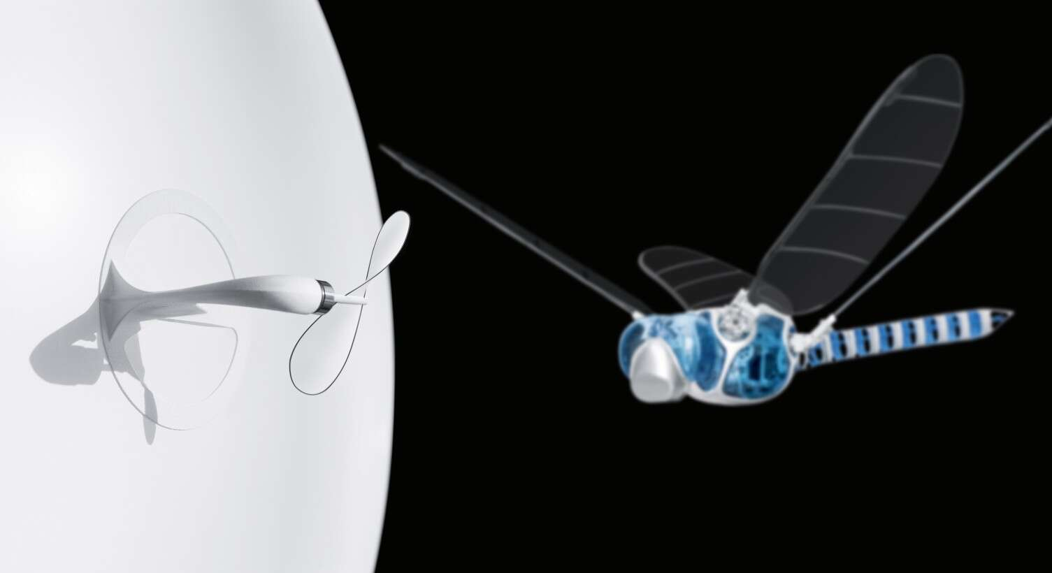 Pioneering model: the wing principle of the BionicOpter, applied to the drive technology of the eMotionSpheres
