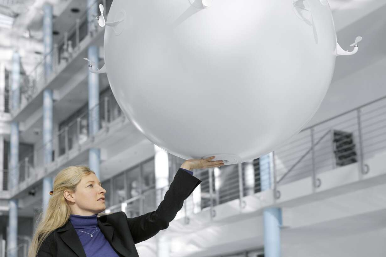 Festo eMotionSpheres: safe interaction between people and technology