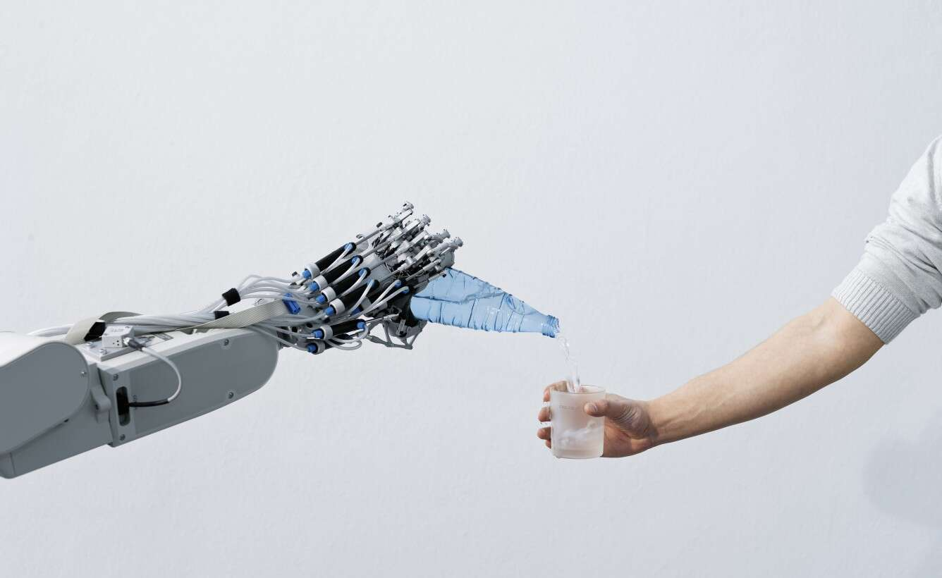 Festo ExoHand in the service robot: independence into old age