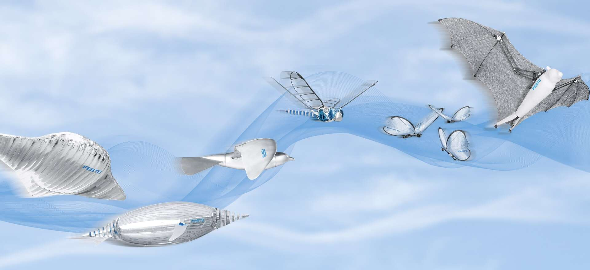Flying in the Bionic Learning Network