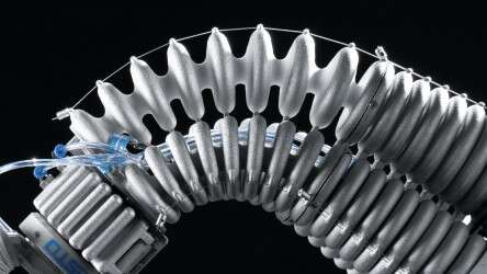 Festo Robotino® XT: maximum performance through low weight thanks to the lightweight structure of the gripper arm