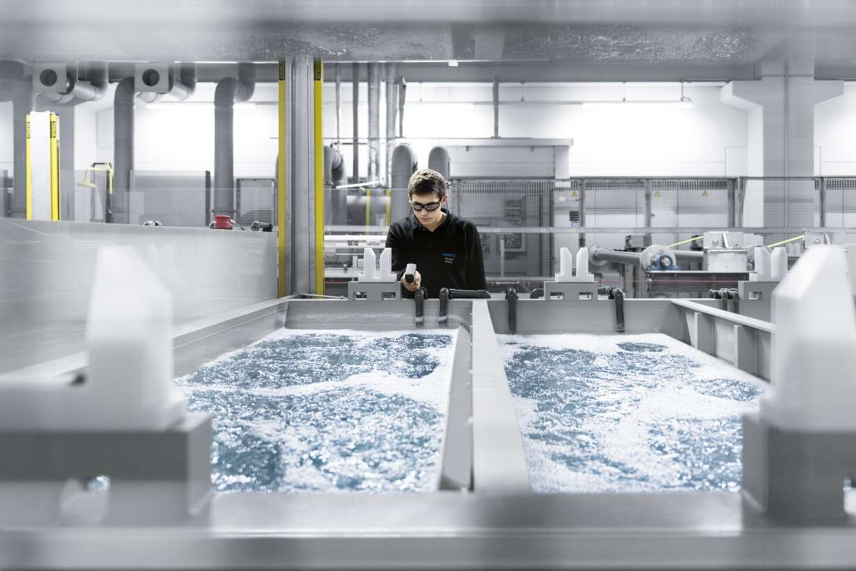 Refined with electricity: electroplating at Festo St. Ingbert-Rohrbach