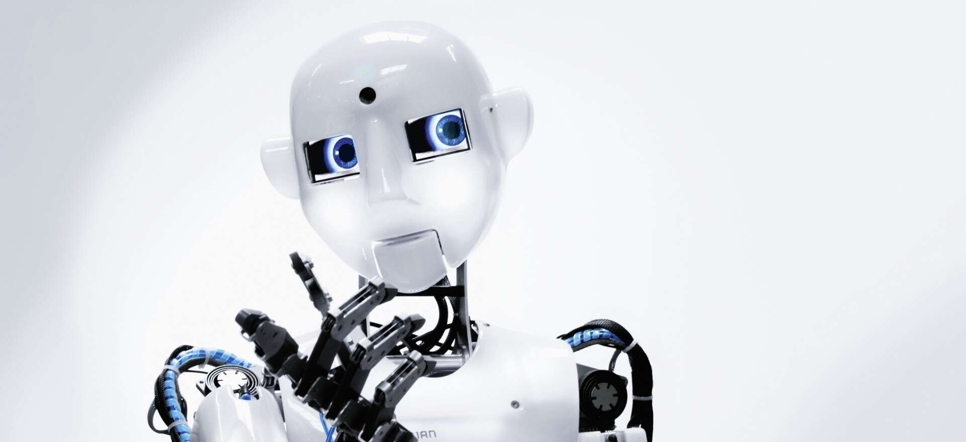The humanoid robot RoboThespian moves using technology developed by Festo.