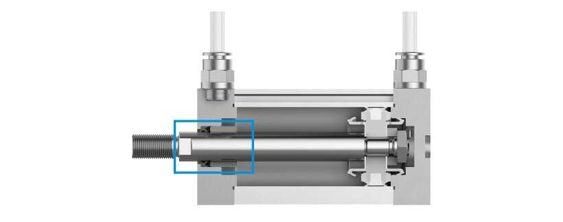 PPV and PPS cushioning in the compact air cylinder