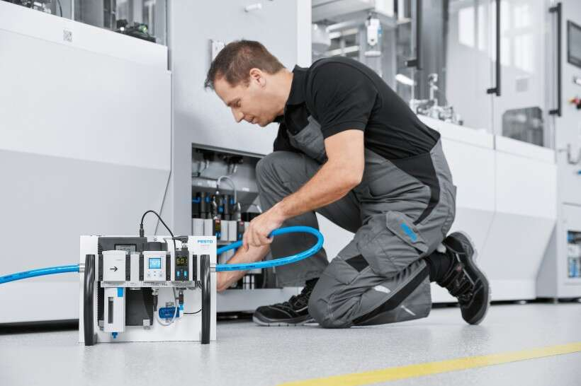 Festo Energy Saving Services: compressed air consumption analysis