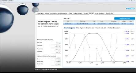 PositioningDrives tool from Festo