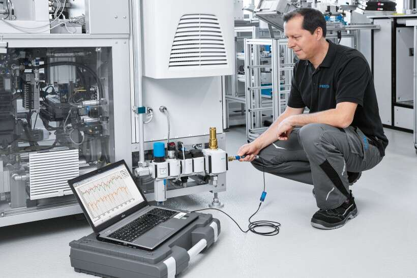 Festo Energy Saving Services: pressure drop measurement