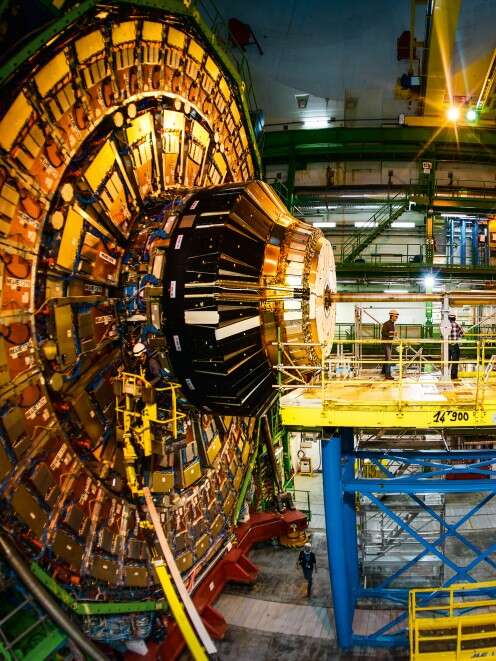 Impressive: 21 metres long, 15 metres in diameter and weighing 12,500 tonnes – the CMS detector takes up to 40 million measurements per second.
